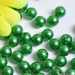 Perły perełki 6mm, 100 szt. ZIELONE