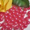 Perły perełki 6mm, 100 szt. MALINA
