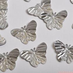 Cekiny motyle motylki srebrne 34 szt. DUŻE!!!