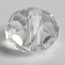 Koraliki Rondelle kryształowe fasetowane  6 szt 6x8 MORSKIE