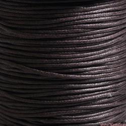 Sznurek woskowany 1mm Brązowy ciemny 3m