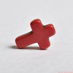 Krzyżyk 16x12 mm Czerwony