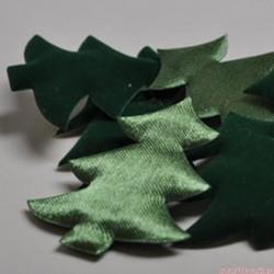 Boże Narodzenie - choinki satyna, welur D - 2 szt.