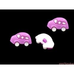 Guziki auta  fiioletowe