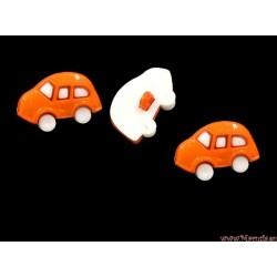 Guziki auta pomarańczowe