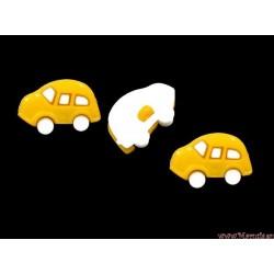 Guziki auta żółte