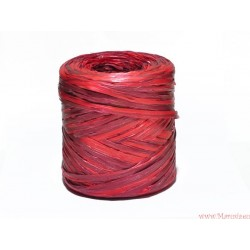 Rafia sznurek wstążka AŻ 5 METRÓW czerwona bordowa