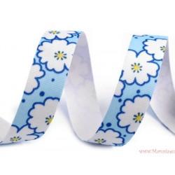 Washi tape samoprzylepna fioletowa w kwiatki