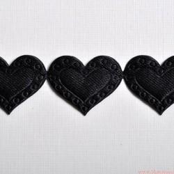 Aplikacje serduszka serca czarne 50 serc 1m.