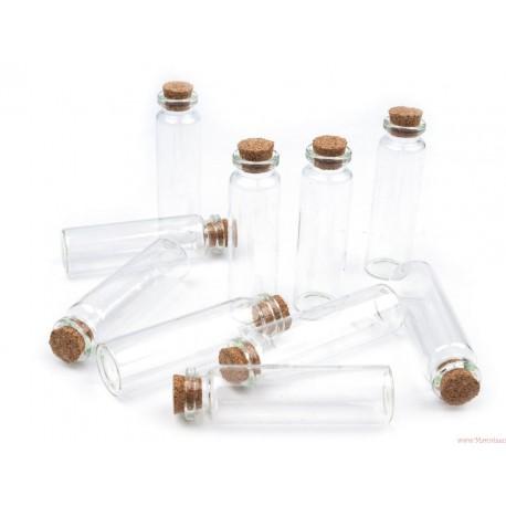 Buteleczka szklana 20x75mm z korkiem