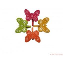 Wielkanocne motylki motyle z klamerkami 4szt.