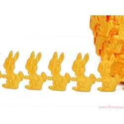 Aplikacje satynowe króliczki zajączki - 32 szt. zielone jasne