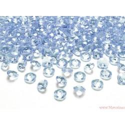 Diamentowe konfetti błękitne