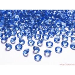 Diamentowe konfetti niebieskie ciemne