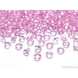 Diamentowe konfetti różowe