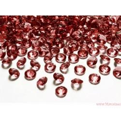 Diamentowe konfetti czerwone