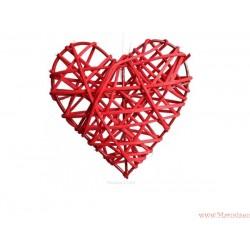 Serce wiklinowe ratanowe 9cm