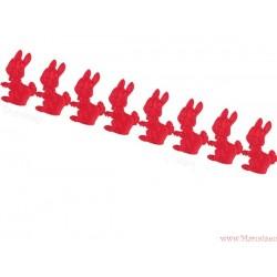 Aplikacje - Satynowe kaczki, kaczuszki - 33 szt.