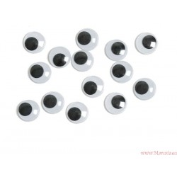 Ruchome oczy oczka o średnicy 15 mm 25 szt.