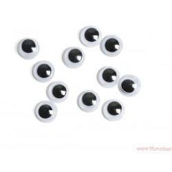 Ruchome oczy oczka o średnicy 8 mm 50 szt.