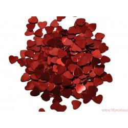 Serca serduszka metaliczne 100 szt.