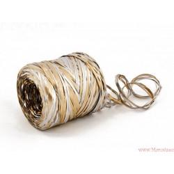 Rafia dwukolorowa 5m srebro i granat