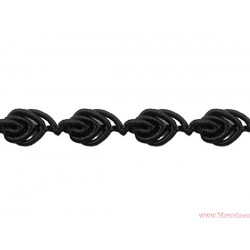 Taśma ozdobna dekoracyjna obszywka 8mm czarna