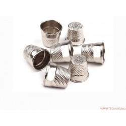 Naparstek metalowy niklowany 16mm