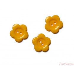 Guziki kwiatki żółte ciemne