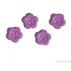 Guziki kwiatki fioletowe