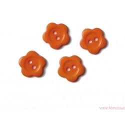 Guziki kwiatki pomarańczowe