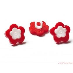 Guziki kwiatki na nóżce czerwone