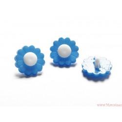Guziki kwiatki na nóżce niebieskie