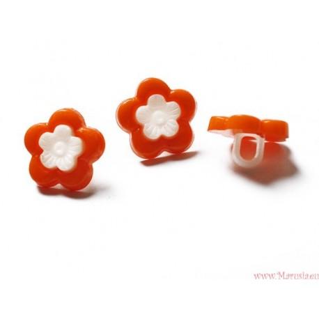 Guziki kwiatki na nóżce pomarańczowe