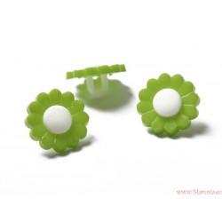 Guziki kwiatki na nóżce zielone