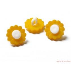 Guziki kwiatki na nóżce żółte