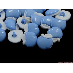 Guziczki guziki jabłka niebieskie