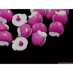 Guziczki guziki jabłka różowe ciemne