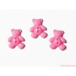 Guziczki guziki misie różowe jasne
