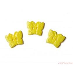 Guziki motyle żółte jasne
