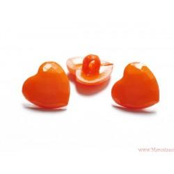 Guziki serca pomarańczowe