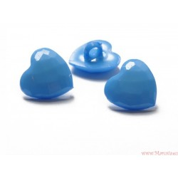 Guziki serca niebieskie
