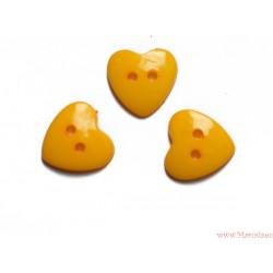 Guziki serca krzywe żółte ciemne