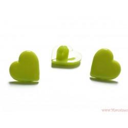 Guziki serca zielone
