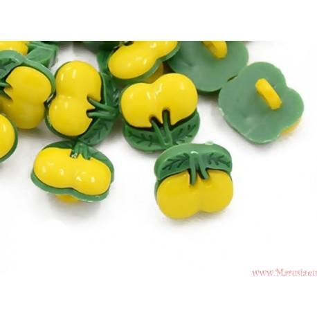 Guziczki guziki wiśnie wisienki żółte