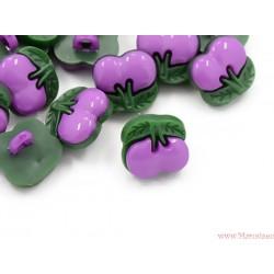Guziczki guziki wiśnie wisienki fioletowe