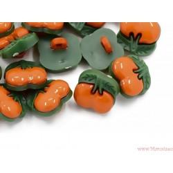 Guziczki guziki wiśnie wisienki pomarańczowe