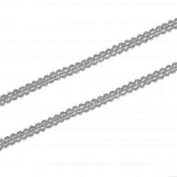 Taśma metalizowana 8mm srebrna