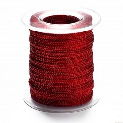 Sznurek ozdobny szerokość 1mm 100m czerwony