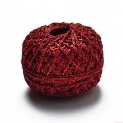 Sznurek ozdobny brokatowy szerokość 1,5mm 50m czerwony